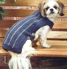 EASY FAST KNIT SMALL MEDIUM & LARGE DOG COAT  CHUNKY KNITTING PATTERN  (1121)