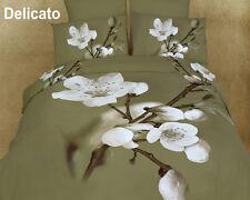 NEW DOLCE MELA KING BEDROOM DELICATO FLORAL SHEET SET 100% COTTON MULTI-COLOR
