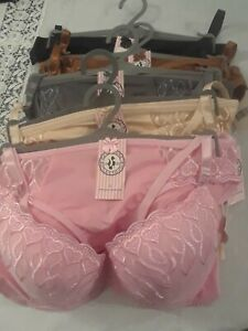 New womens  lacey  SEXY PUSH- UP BRA   and   PANTIES   SETS...BY PARIS PINK
