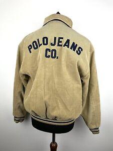 Vintage Polo Ralph Lauren Jeans Cord Corduroy baseball bomber jacket Size Small
