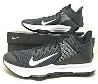 Nike Lebron Witness IV 4 Black/White Mens Basketball Shoes BV7427 001 James NEW
