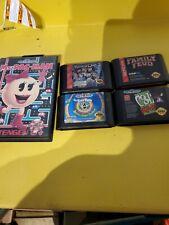 Sega Genesis LOT OF 5 GAMES: Ms. Pac-man, Robocop 3,and more