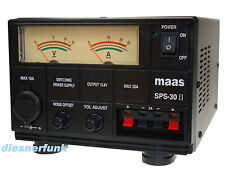 CB Funk & Amateurfunk Schaltnetzteil 9-15 Volt DC 30 Ampere MAAS SPS 30-II Noise