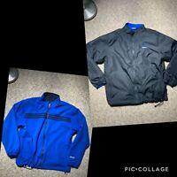 ADIDAS VINTAGE Men's Size Large Mid Weight Windbreaker Reversible Zip Up Jacket