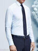 NWT Boss Hugo Black Label By Hugo Boss Solid Broadcloth White Dress Shirt