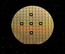 """Ultra Rare 2"""" Silicon Wafer - MOS Technology 2050 256bit SRAM circa 1970"""
