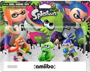 AMIIBO SPLATOON SERIES 3 TRIPLE PACK BOY GIRL INKLING Nintendo WII U 3DS NEW