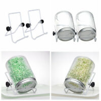 2Pack White Stainless Steel Sprouting Stand Foldable Non-slip Phone Jar Scaffold