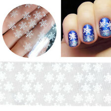 1X Ongle Autocollant Transfer Stickers Flocons Neige Noël 3D Nail Art Décor DIY