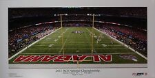 ALABAMA football vs LSU 2011 BCS panoramic stadium print