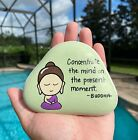 Hand Painted Buddhist Quote Baby Buddha Zen Life Lessons Peace Stone Art #5