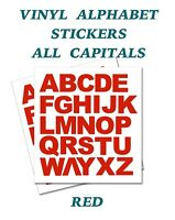 2 x  Set of Full Alphabet Red Letters  Self Adhesive Vinyl Stickers size 50mm