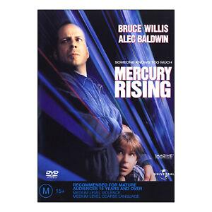 Mercury Rising DVD Brand New Region 4 - Bruce Willis, Alec Baldwin - Free Post