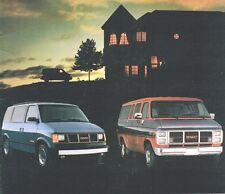 1989 GMC RALLY / SAFARI VAN Brochure / Pamphlet w/ Color Chart: G1500,G2500,SLX,