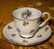ROYAL STAFFORD *SWEET VIOLETS* CUP & SAUCER GOLD TRIM
