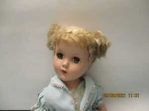 "Vintage R & B Nancy Lee 18"" Blonde  Hard plastic all original clothes unmarked"