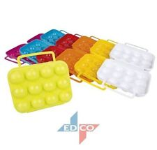 12 EGGS HOLDER TRAY PLASTIC REFRIGERATOR EGG STORAGE BOX CASE FOLDABLE CONTAINER