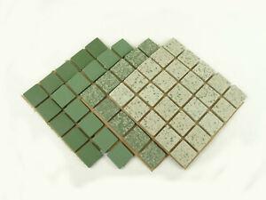 20mm Unglazed Porcelain Mosaic Tiles, The Greens. 100 Tile Pack