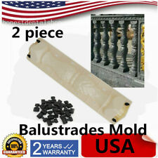Set 2 Piece Moulds Balustrades Mold Kits for Concrete Plaster Cement US STOCK