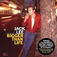 Jack Lee Bigger Than Life Double LP Vinyl 23 Track Anthology From The Nerves'