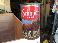 Schmidt Beer Flat Top Can ~Plow & Horses ~ Pfeiffer Brewing W/Schmidt Mug Handle