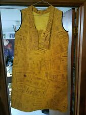 VTG 1960s YELLOW PAGES PAPER Advertising Pop Art DRESS RARE