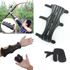 Archery Compound Bow Recurve Bow Shooting Wrist Arm Guard Finger Tab Protection