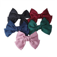 Women Girls Elegant Big Bow Tie Hair Clips Ribbon Girls Hairpins Banquet Party