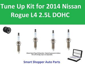 Air Filter, Oil Filter, Bosch Spark Plugs Fit to Tune Up for 2014 Nissan Rogue