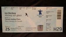 VANCOUVER 2010 WINTER OLYMPIC GAMES - ICE HOCKEY WOMEN'S GOLD - CANADA vs USA