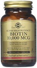 Biotin 10,000 mcg Solgar Vegetable Capsules 120