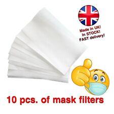 10× Filters for Cotton Masks  Polypropylene Mask Filters with Pocket