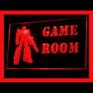 230081 Game Room Toy Robot Model Pin Pong Display LED Light Neon Sign