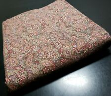 Over 1 yard Paisley Fabric Maroon Burgundy Pink Brown