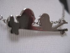 Bird Necklace - Two Birds on a Branch