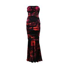 93e540c9 Dolce & Gabbana Black Pink Silk Blend Floral Print Strapless Dress SZ 38