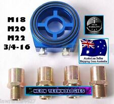 BLUE Oil Filter Sandwich Plate Adapter *Mount gauge sensors Defi Autometer 1/8*