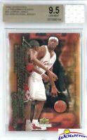 2003 UD Freshman #31 Lebron James RC+Game Used High School Jersey BGS 9.5 GEM