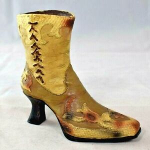Victorian Style Snake Skin Leather Lace up Boot  - Resin Figure