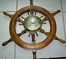 Chelsea Vintage Yacht Wheel Ship'S Clock for Ny Nautical Instrument Service Co