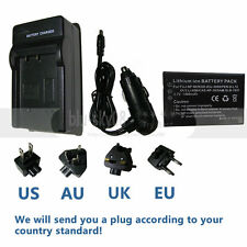 Battery + Charger For HP Photosmart R07 R507 R607 R707 R717 R725 NP60 Camera