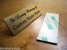 Custom Engraved 2x6 Gold In Memory Of Name Plate | Plaque Urn Keepsake Loving