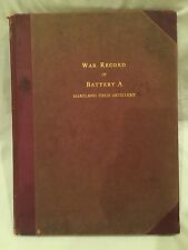 War Record Of Battery A, Maryland Field Artillery c.1923 Hand-tipped Photographs