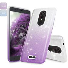 For T-Mobile REVVL Plus Shockproof Glitter Bling TPU Gradient Phone Case Cover