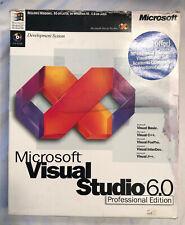 Microsoft Visual Studio 6.0 Professional Edition 659-00143 Possibly Used G'teed