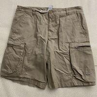 "Nike 36 x 10.5"" Khaki Ripstop Zip Pocket Cargo Shorts"