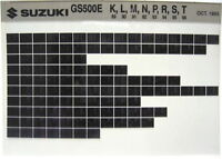 Suzuki GS500 E 1989 1990 1991 1992 1993 1994 1995 1996 Parts Microfiche s315