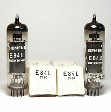 Pair of Siemens E84L / 7320 Audio Tubes, Professional EL84 for TAB V81, NOS