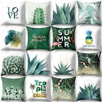 AU_ HB- Summer Fresh Leaves Throw Pillow Case Cushion Cover Sofa Bed Home Decor