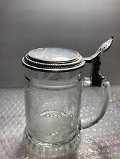 New listing Vtg Clear Etched Boar/Ducks Glass Beer Stein/Mug/Tankard W/Lid – West Germany